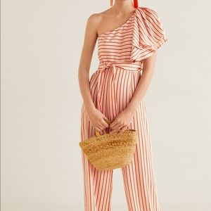 Belted flowy asymmetrical jumpsuit NWT